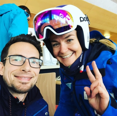 dr Mateusz Nowacki i Nikol Kucerova Ski Cross World Cup