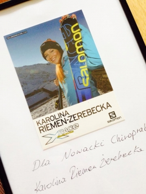 dr Mateusz Nowacki Chiropraktyk Karolina Riemen-Żerebecka ski cross