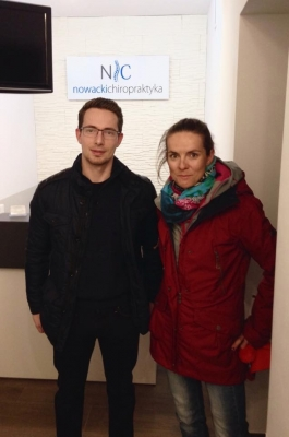 Maja Włoszczowska i dr Mateusz Nowacki, Chiropraktyk.